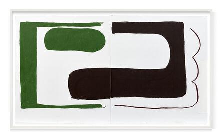 Esther Kläs, 'Green / brown', 2020