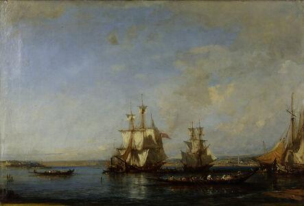Félix Ziem, 'Caiques and Sailboats at the Bosphorus', ca. 19