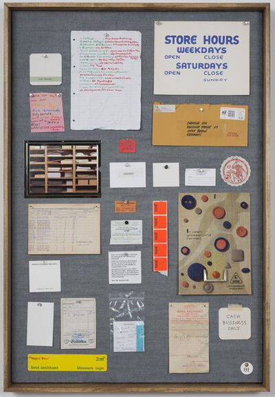 Christine Hill, 'Musterbrett (Sample Board) No. 1', 2012