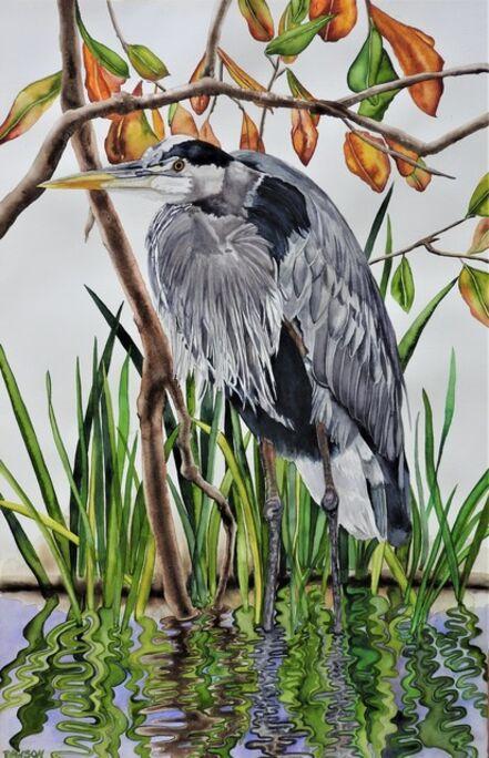 Carol Dawson, 'Wet Feet: Great Blue Heron', 2020