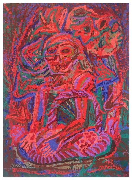 Gerald Davis, 'Boy with Basket in Desert Landscape (Pressed Version)'
