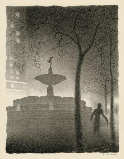 Ellison Hoover, 'Pulitzer Fountain, Evening', ca. 1930