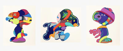 KAWS, 'NO ONE'S HOME, STAY STEADY, THE THINGS THAT COMFORT, Set of 3 Works', 2015