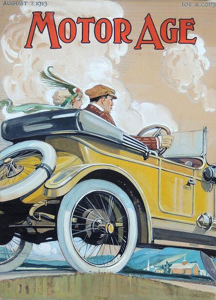 Clinton Pettee, 'Original 1913 Motor Age Magazine Cover Art Illustration', 1913