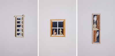 Gigi Scaria, 'Slashes on the Wall (Triptych)', 2017