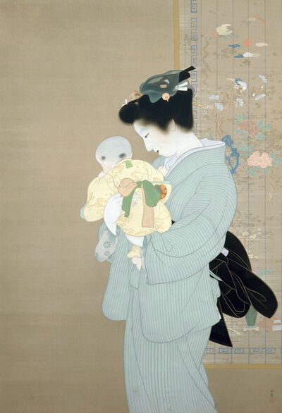 Uemura Shōen, 'Mother and Child', 1934
