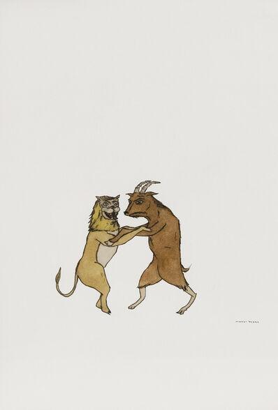 Marcel Dzama, 'Untitled (Lion and goat)', 2001
