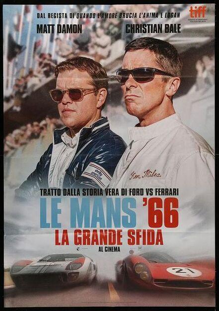 Anon, 'FORD V FERRARI teaser Italian ONe Panel Poster  Christian Bale, Matt Damon, different, Le Mans '66!', 2019