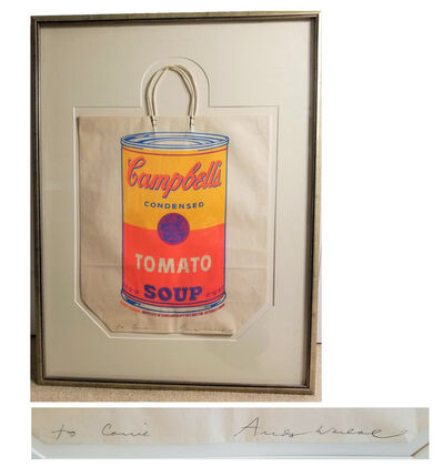 """Andy Warhol, '""""Campbell's Soup Can Shopping Bag"""", 1966, SIGNED, Institute of Contemporary Art Boston', 1966"""