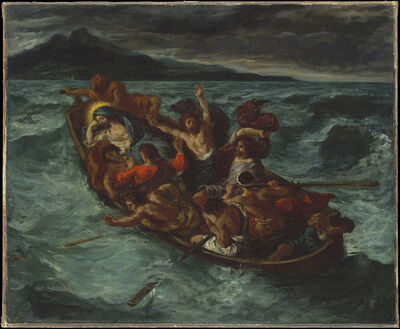 Eugène Delacroix, 'Christ on the Sea of Galilee', 1853