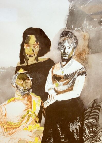Maxwell Bates, 'Spanish Family', 1965