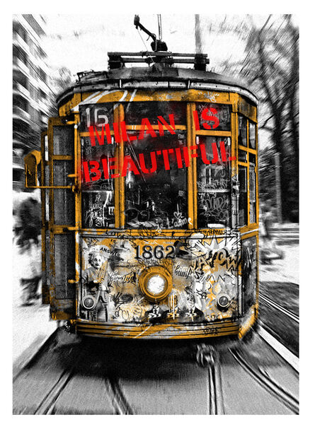 Mr. Brainwash, 'Milan is Beautiful - Tram Red', 2019