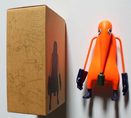 OSGEMEOS, 'Tokion Neo Graffiti Project 3D w/ORIGINAL DRAWING on box', 1999