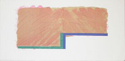 Richard Smith (1931-2016), 'Horizon IV (beige, blue, green)', 1970