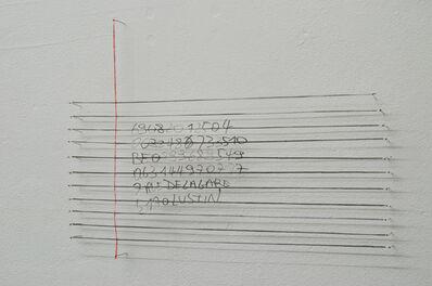 Benoît Felix, 'Note de travail 20 (données)  ', 2019