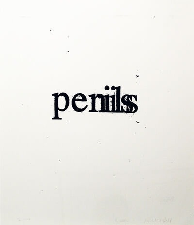 Christopher Wool, 'Perils Penils', 2009