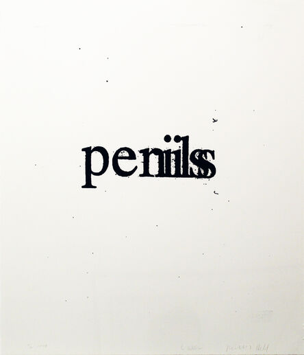 Christopher Wool, 'Perils Penils (from the Psychopts portfolio)', 2009