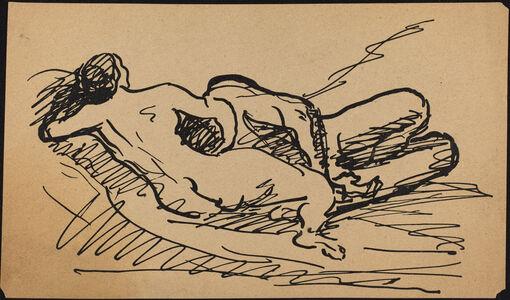Albert Weisgerber, 'Reclining Nude'