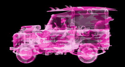 Nick Veasey, 'Camouflage Land Rover Surfer - Pink', 2021