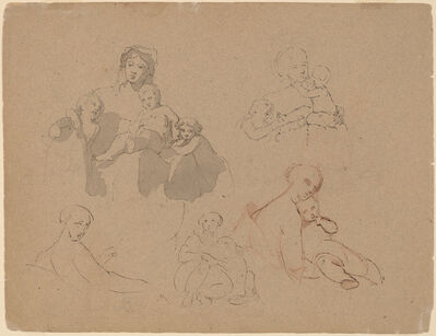 Thomas Sully, 'Studies: Major Thomas Biddle and Thomas Wilcocks Sully', 1820
