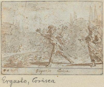 Johann Wilhelm Baur, 'Ergasto and Corisca', 1640