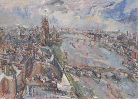 Oskar Kokoschka, 'View of the Thames from the Vicker's Building, Millbank', 1962