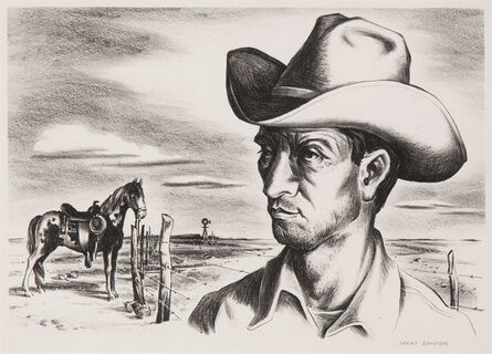 Jerry Bywaters, 'Ranch Hand and Pony', 1944