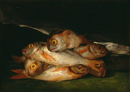 Francisco de Goya, 'Still Life with Golden Bream', 1808-1812