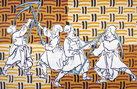 Sigrid Holmwood, 'Peasants fighting with scythes ', 2017
