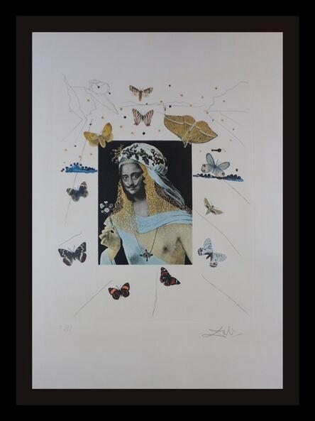 Salvador Dalí, 'Memories of Surrealism Surrealiste Portrait of Dali Surrounded by Butterflies', 1971