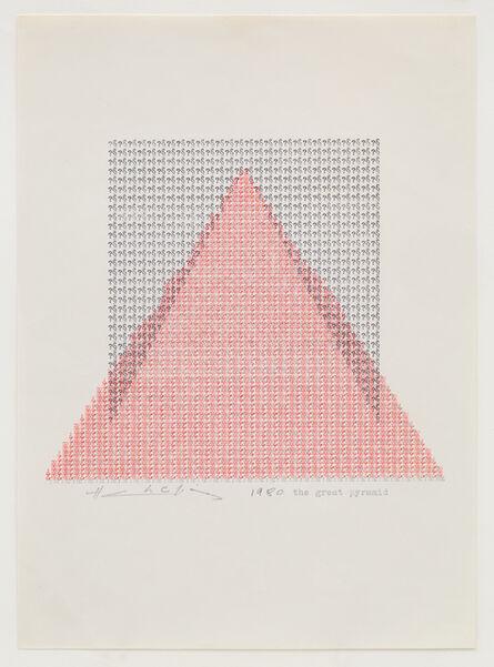 Henri Chopin, 'The Great Pyramid', 1980