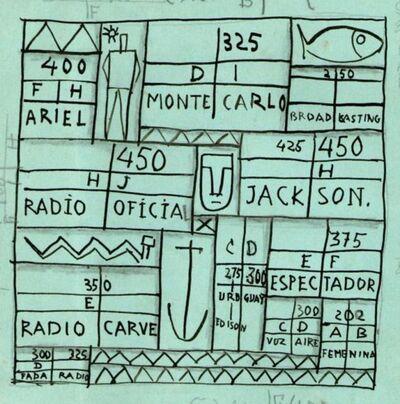 Joaquín Torres-García, 'Constructivo Emisoras Radiales C', 1939