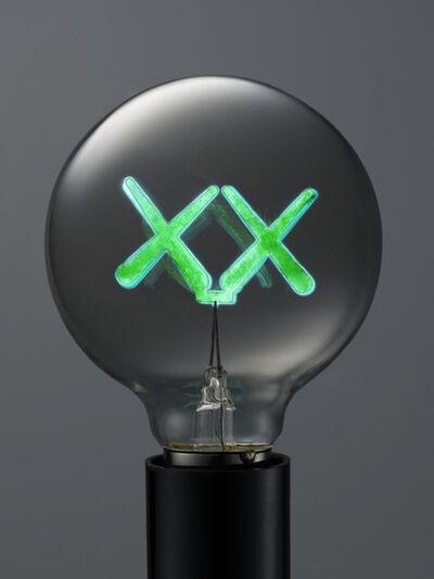 KAWS, 'KAWS X THE STANDARD LIGHT BULB GREEN', 2011