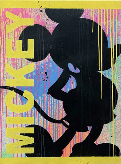 STEVIE CHOW, 'Mickey Silhouette - Yellow', 2021
