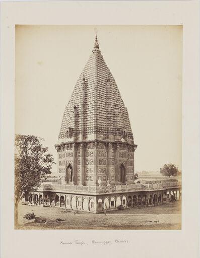 Samuel Bourne, 'Sumeree temple at Ramnuggur, Benaras', c.1863-1871