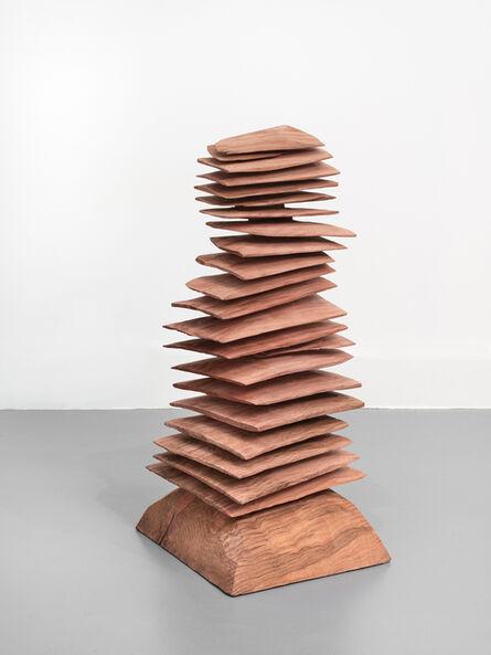 David Nash, 'Red Stack', 2020