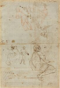 Gaspar van Wittel after Annibale Carracci, 'Figures from the Farnese Palace and from Life', ca. 1710