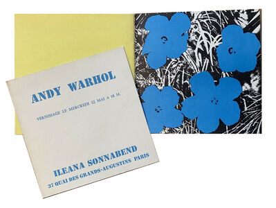 """Andy Warhol, '""""Andy Warhol"""", Exhibition Catalogue with Opening Announcement Card (screen-print), Galerie Ileana Sonnabend Paris.', 1965"""