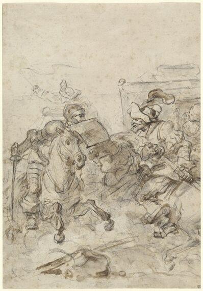 Jean-Honoré Fragonard, 'Don Quixote Attacking the Biscayan', 1780s