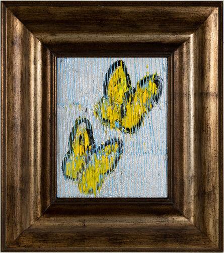 Hunt Slonem, 'Untitled Butterflies-silver', 2021