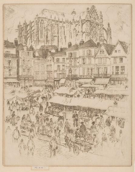 Joseph Pennell, 'La Place, Beauvais', 1907