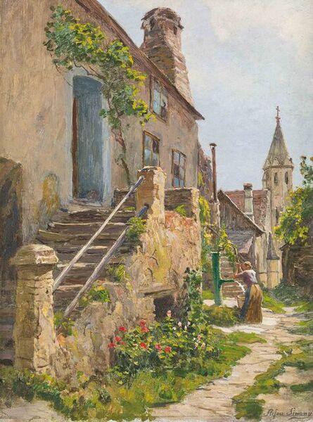 Stefan Simony, 'Motif from Schwallenbach in the Wachau', 1917