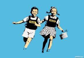 Banksy, 'Police Kids Jack and Jill Signed', 2005