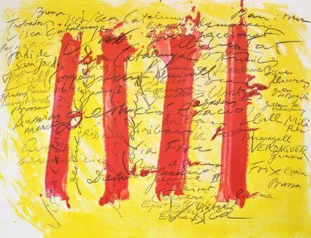 Antoni Tàpies, 'Catalana plate V', 1972