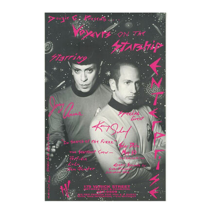 "Kenny Scharf, '""Voyeurs on the Starship Enterprise / Starring Joey Arias & Kenny Scharf"", Poster, Tilt Nightclub NYC', 1992"
