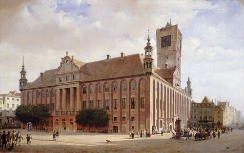 Eduard Gaertner, 'City Hall at Thorn', 1848