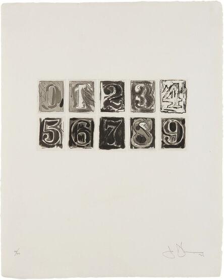 Jasper Johns, '0-9 ', 1975
