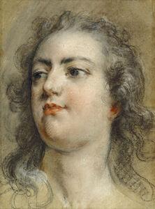 François Le Moyne, 'Head of King Louis XV', 1729