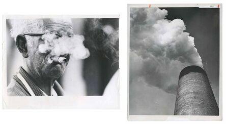 Murray Moss, 'TQ 3/4: Here's smoke in your eye/Smokestack, Bethlehem Steel', 1976/1959