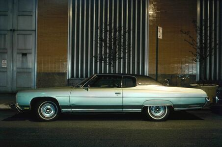 Langdon Clay, 'Silver Fish, Chevrolet Impala Custom Coupe in front of Con Edison Substation', 1975